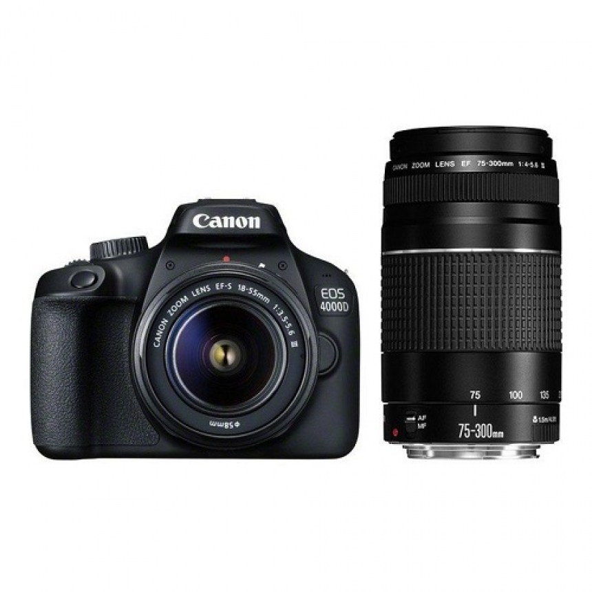 canon-eos-4000d-double-dc-kit-ef-s-18-55mm-dc-iii-ef-75-300mm-f4-5.6-iii